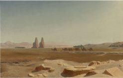 Caravan Passing the Colossi of Memnon