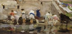 Washerwomen | Francisco Pradilla y Ortiz | Oil Painting