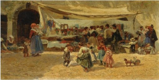 The Marketplace | Mariano Barbasan | Oil Painting