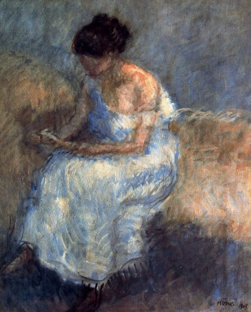 Woman Reading   Isidro Nonell Monturiol   Oil Painting