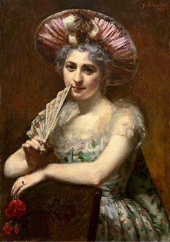 Woman with a Fan | Yuri Leman | Oil Painting