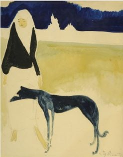 Woman with a Dog | Leon Spilliaert | Oil Painting