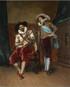 The Cavaliers | Adolphe Alexander Lesrel | Oil Painting