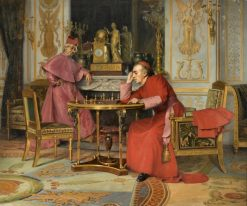 The Chess Game | Henri Adolphe Laissement | Oil Painting