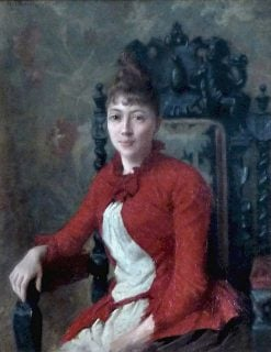 Lady in Red | Henri Adolphe Laissement | Oil Painting