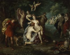 Diana Turns Actaeon into a Stag | Hendrick van Balen | Oil Painting