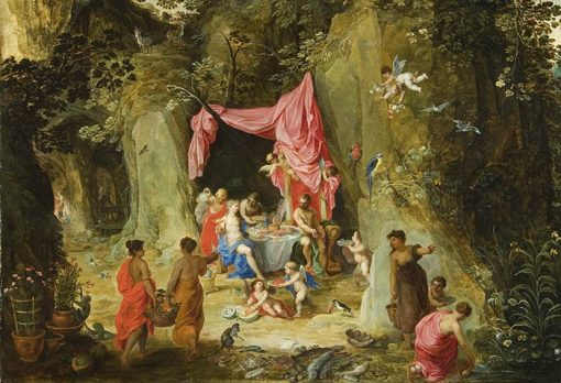 Odysseus as guest of Nymph Calypso | Hendrick van Balen | Oil Painting