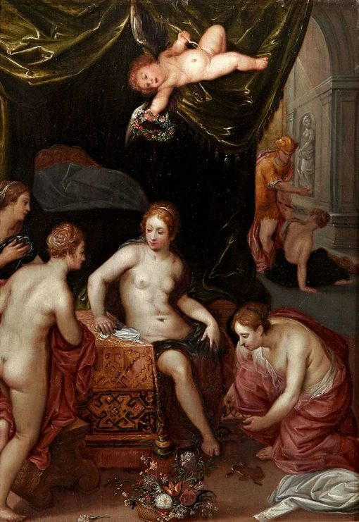 Herse and her Sisters with Mercury | Hendrick van Balen | Oil Painting