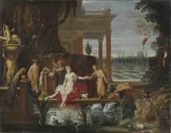 Bathseba in the Bath Receiving the Letter from King David | Hendrick van Balen | Oil Painting