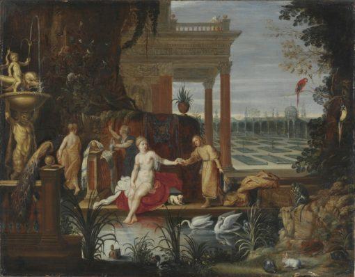 Bathseba in the Bath Receiving the Letter from King David | Hendrick van Balen | Oil Painting