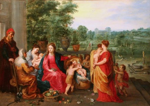The Holy Family in a Garden | Hendrick van Balen | Oil Painting