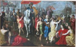 Triumph of king David after killing the philistine giant Goliath | Hendrick van Balen | Oil Painting
