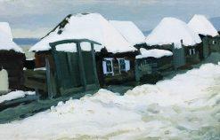 Zlatoust. Houses | Nikolai Fokin | Oil Painting