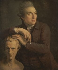 Joseph Nollekens with His Bust of Laurence Stern | John Francis Rigaud | Oil Painting