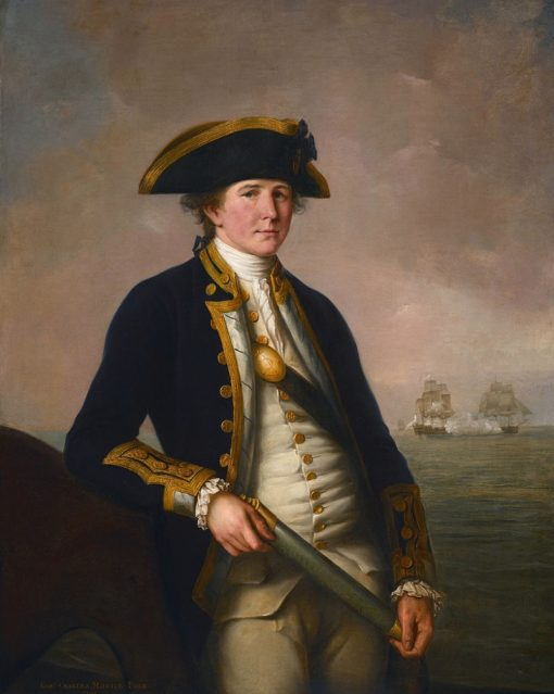 Captain Charles Morice Pole | John Francis Rigaud | Oil Painting