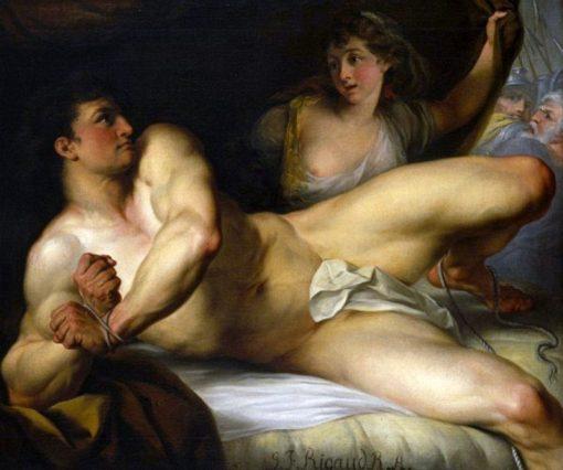 Samson breaking his bands or Samson and Delilah | John Francis Rigaud | Oil Painting
