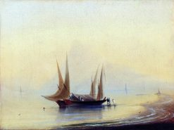 A Barge by the Seashore | Ivan Constantinovich Aivazovsky | Oil Painting