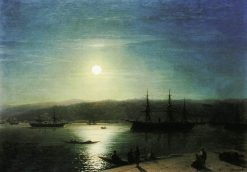A Moonlit Night on the Bosphorus | Ivan Constantinovich Aivazovsky | Oil Painting