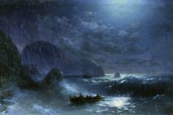 Storm on the Sea at Night | Ivan Constantinovich Aivazovsky | Oil Painting