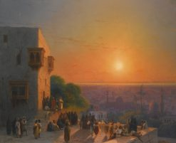 Evening in Cairo   Ivan Constantinovich Aivazovsky   Oil Painting