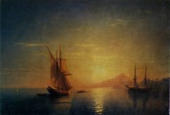Evening on the Sea   Ivan Constantinovich Aivazovsky   Oil Painting