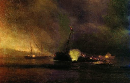 Explosion of a Three-Masted Steamship in Sulin. September 27