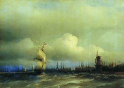 View of Amsterdam | Ivan Constantinovich Aivazovsky | Oil Painting