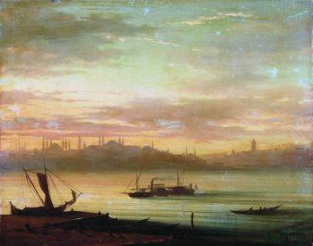View of Bosphorus   Ivan Constantinovich Aivazovsky   Oil Painting