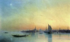 View of Venice at Sunset | Ivan Constantinovich Aivazovsky | Oil Painting