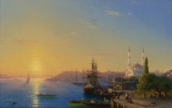 View of Constantinople and Bosphorus | Ivan Constantinovich Aivazovsky | Oil Painting