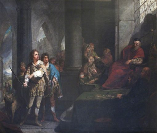 John de Warenne Giving Answer to the Kings Justices on the Enforcement of the Statute of Quo Warran | Robert Edge Pine | Oil Painting
