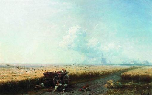 Harvest Time in Ukraine   Ivan Constantinovich Aivazovsky   Oil Painting