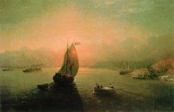 The Volga River | Ivan Constantinovich Aivazovsky | Oil Painting