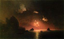 Gurzuf at Night   Ivan Constantinovich Aivazovsky   Oil Painting