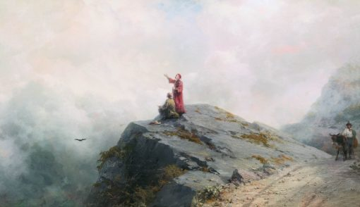 Dante Pointing at Beautiful Clouds | Ivan Constantinovich Aivazovsky | Oil Painting