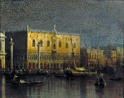 The Doges Palace in the Moonlight