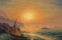 Sunset at Sea   Ivan Constantinovich Aivazovsky   Oil Painting