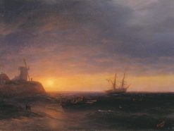 Sunset at Sea | Ivan Constantinovich Aivazovsky | Oil Painting