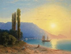 Yalta at Sunset | Ivan Constantinovich Aivazovsky | Oil Painting