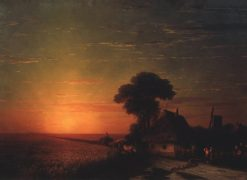 Sunset in Ukraine | Ivan Constantinovich Aivazovsky | Oil Painting