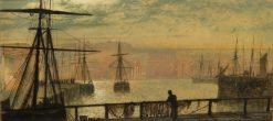 Whitby Harbour | John Atkinson Grimshaw | Oil Painting