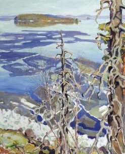 Ice Breaking up on Lake Ruovesi | Akseli Gallen-Kallela | Oil Painting