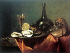 Still life with oysters | Pieter Gerritz. van Roestraten | Oil Painting