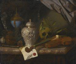A vanitas still life   Pieter Gerritz. van Roestraten   Oil Painting