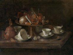 Still life with chocolate cups | Pieter Gerritz. van Roestraten | Oil Painting