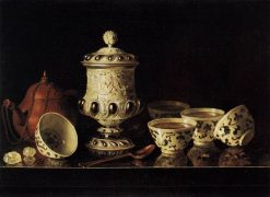 Still-Life with Chinese Teabowls | Pieter Gerritz. van Roestraten | Oil Painting
