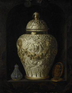 Still Life with Silver Jar   Pieter Gerritz. van Roestraten   Oil Painting