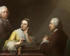 The Backgammon Trio | Robert Edge Pine | Oil Painting