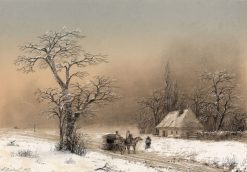 Winter Landscape | Ivan Constantinovich Aivazovsky | Oil Painting