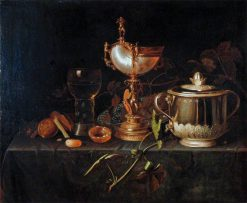 Porringer and Nautilus Cup   Pieter Gerritz. van Roestraten   Oil Painting